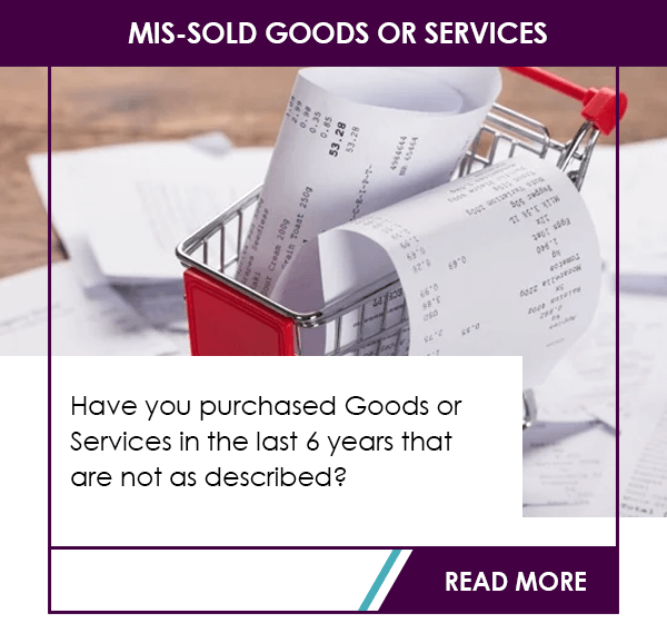 mis-sold goods or services